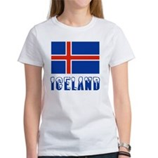 Iceland Flag  Name Snow-capped Tee
