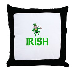 Irish Leprechaun Throw Pillow