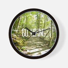 Go Hiking Wall Clock