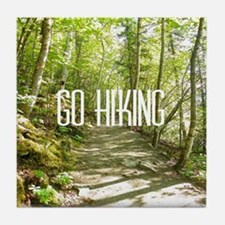 Go Hiking Tile Coaster