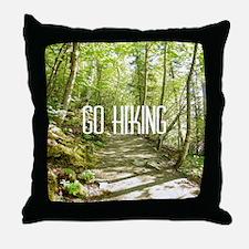Go Hiking Throw Pillow