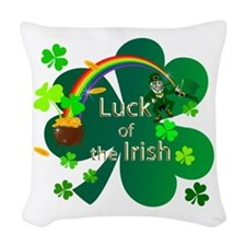 Luck of the Irish Woven Throw Pillow