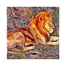 Lion, altered Image Queen Duvet
