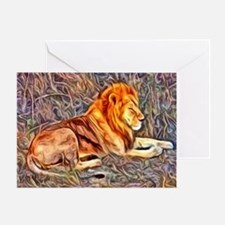 Lion, altered Image Greeting Card