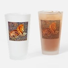 Lion, altered Image Drinking Glass