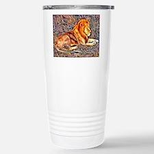 Lion, altered Image Travel Mug
