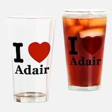 I love Adair Drinking Glass