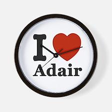 I love Adair Wall Clock