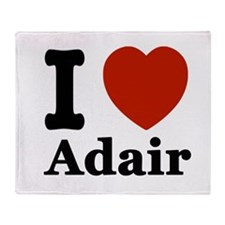 I love Adair Throw Blanket