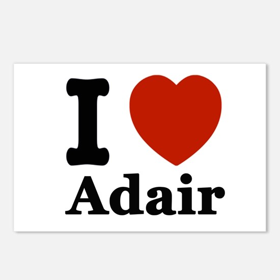 I love Adair Postcards (Package of 8)