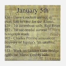 January 5th Tile Coaster