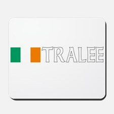 Tralee, Ireland Flag (Dark) Mousepad