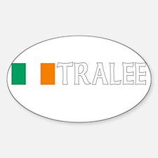 Tralee, Ireland Flag (Dark) Oval Decal