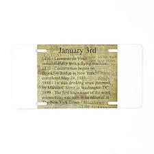 January 3rd Aluminum License Plate