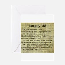 January 3rd Greeting Cards