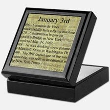 January 3rd Keepsake Box