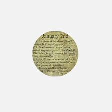 January 2nd Mini Button