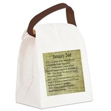 January 2nd Canvas Lunch Bag