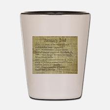 January 2nd Shot Glass