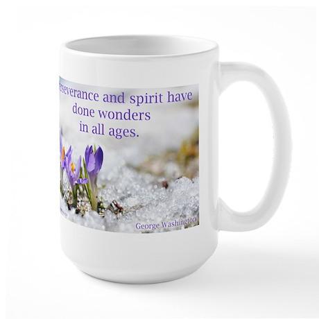 """""""Perseverance & Spirit"""" Large Mug"""