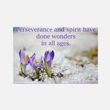"""Perseverance & Spirit"" Rectangle Magnet"