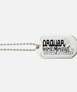 Prayer, wireless connect Dog Tags