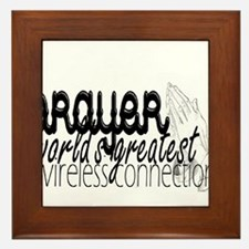 Prayer, wireless connect Framed Tile
