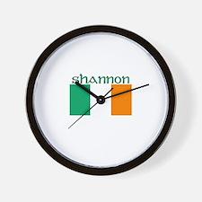Shannon, Ireland Flag Wall Clock