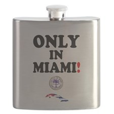 ONLY IN MIAMI - CUBA Flask