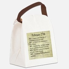 February 27th Canvas Lunch Bag