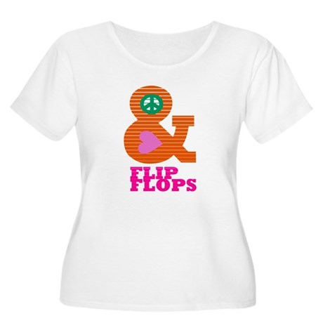 Peace, Love and Flip Flops Plus Size T-Shirt