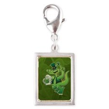 Saint Patrick's Day Crocodil Silver Portrait Charm