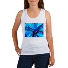 Blue Abstract Tank Top