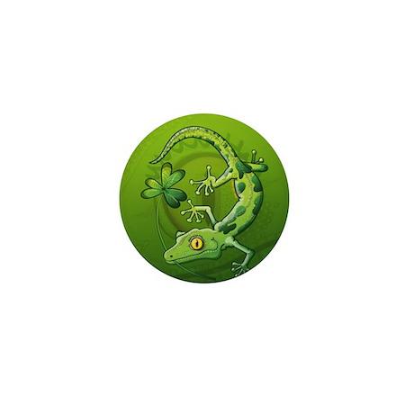 Saint Patrick's Day Gecko Mini Button