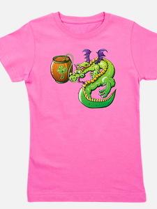Drunk St Patrick's Day Dragon Girl's Tee