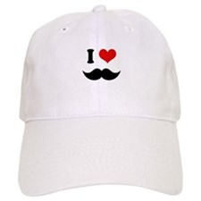 I Heart I Love Black Mustaches Baseball Baseball Cap