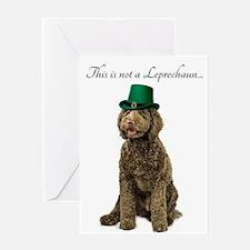 Funny Leprechaun Labradoodle Greeting Cards