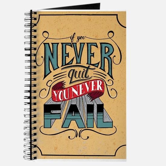 Never Quit / Never Fail Journal