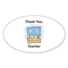 Thank You, Teacher Oval Decal