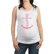 Pink Anchor Maternity Tank Top
