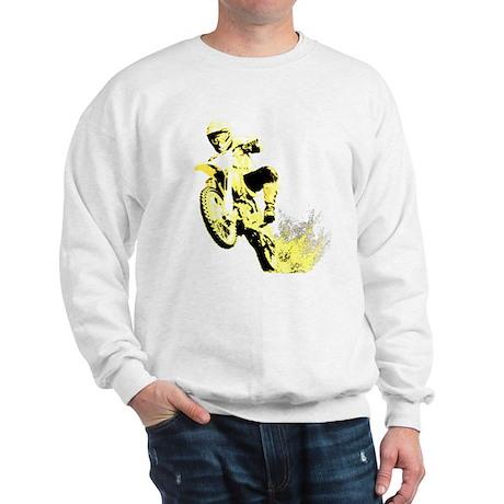 Yellow Dirtbike Sweatshirt