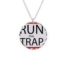 Run Tha Trap Necklace Circle Charm