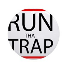 Run Tha Trap Round Ornament