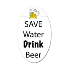 save water drink beer Wall Decal