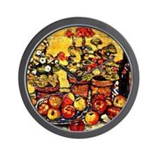Prendergast - Still Life Fruit and Flow Wall Clock