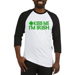 Kiss Me I'm Irish (Light) Baseball Jersey