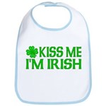 Kiss Me I'm Irish (Light) Bib