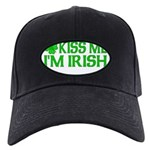 Kiss Me I'm Irish (Light) Black Cap
