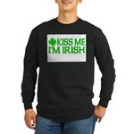 Kiss Me I'm Irish (Light) Long Sleeve Dark T-Shirt