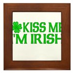 Kiss Me I'm Irish (Light) Framed Tile